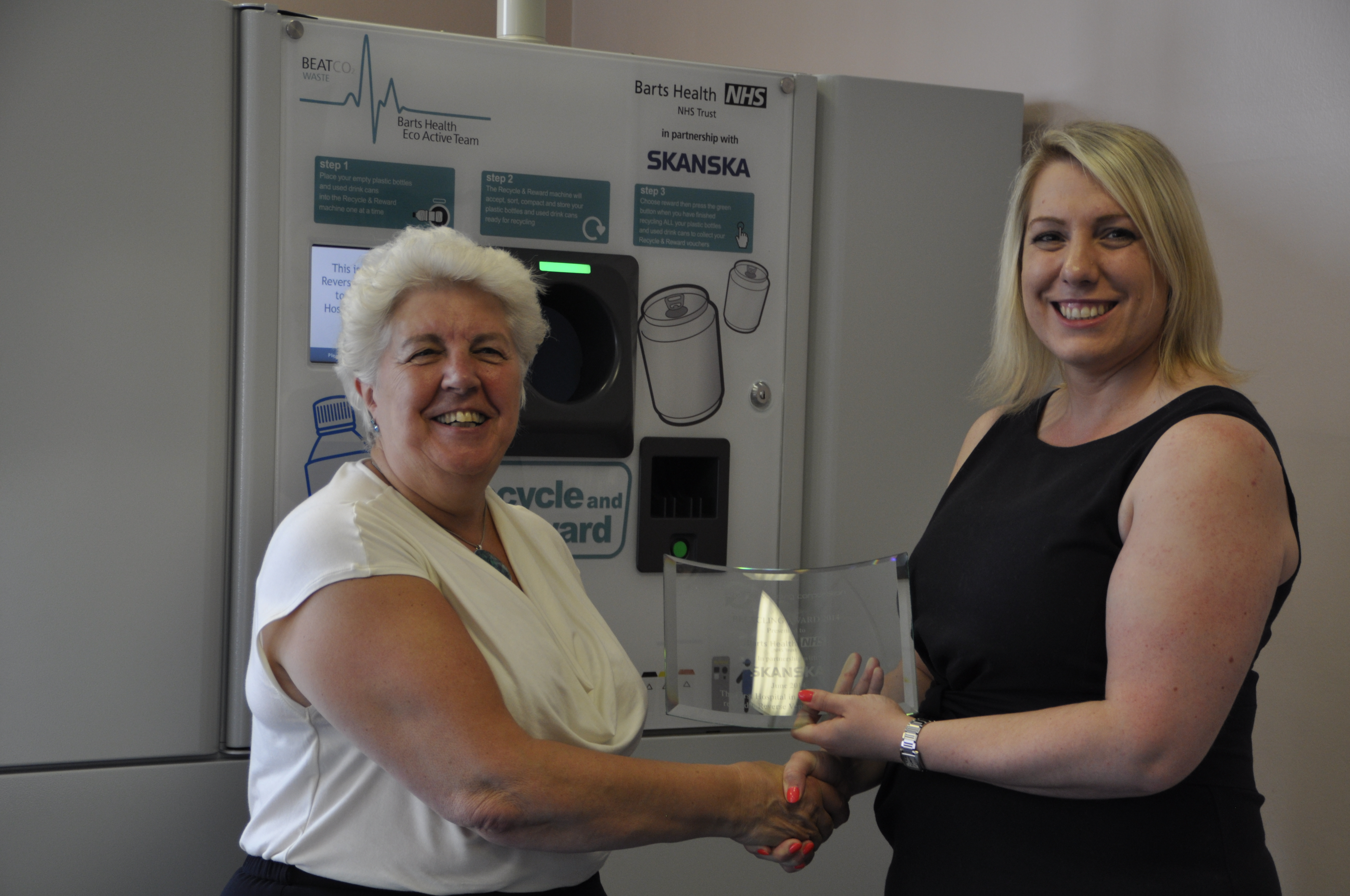 Hospital Recycling Award Barts NHS Health Trust