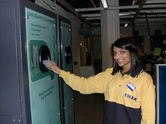 Reverse Vending Machine Light Bulb Recycling IKEA